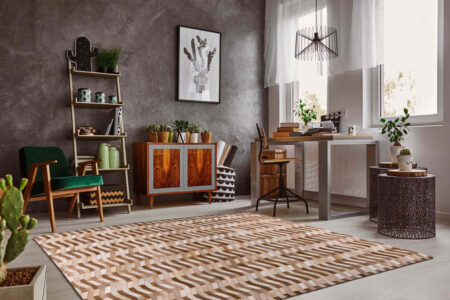 Gau Algedi Beige Area Rug Carpet