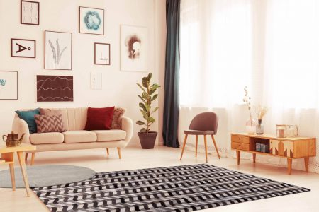 Gau Algedi Grey Area Rug Carpet