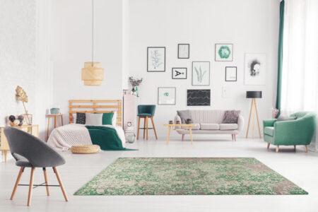 Nile Arvada Green Area Rug Carpet