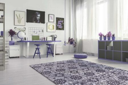 Mariam Baltimore Charcoal/Grey Area Rug Carpet