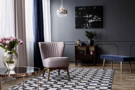 Gau Bricka White/Grey Area Rug Carpet