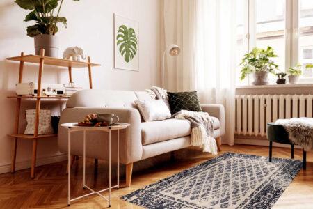 Mariam Corona Charcoal/Grey Area Rug Carpet