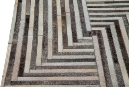 Gau Draco Grey/White Area Rug Carpet