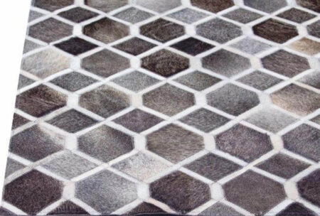 Gau Hydra Grey/White Area Rug Carpet