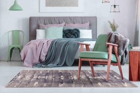 Mariam Jackson Grey Area Rug Carpet