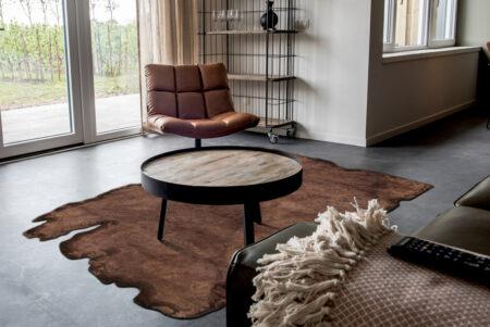 Jalwa-1 Dark Brown Vintage Area Rug Carpet