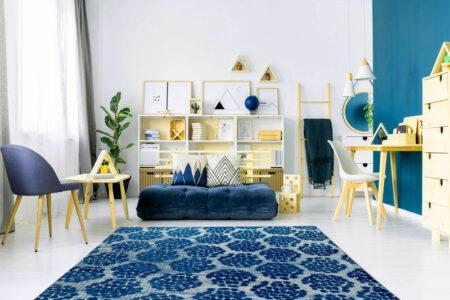 Mariam Midland Blue Area Rug Carpet
