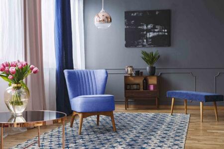 Mariam Modesto Blue Area Rug Carpet