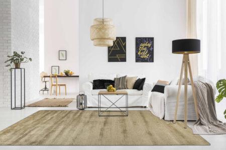 Bamboo Platinum Sand Area Rug Carpet