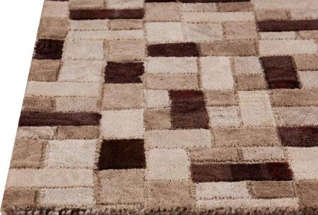Vintage Puzzle Beige Area Rug Carpet