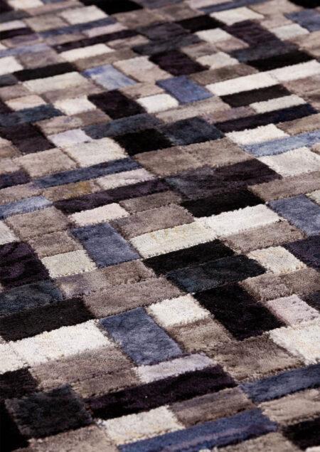Vintage Puzzle Grey Area Rug Carpet