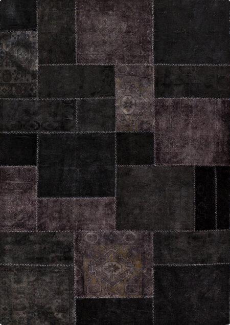 Vintage Renaissance Black Area Rug Carpet