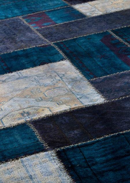 Vintage Renaissance Blue Area Rug Carpet