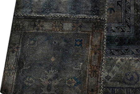 Vintage Renaissance Dark Grey Area Rug Carpet