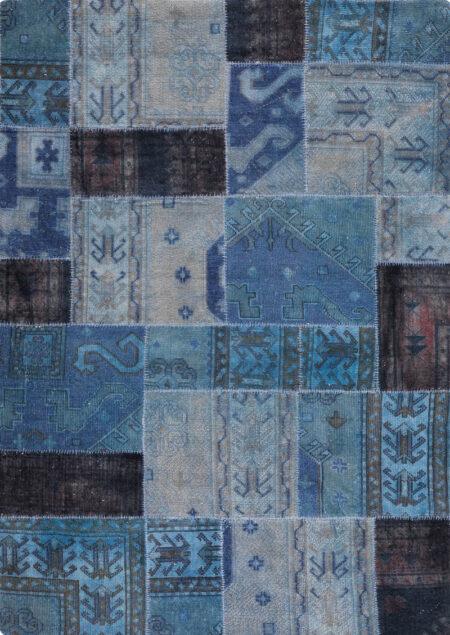 Vintage Renaissance Light Blue Area Rug Carpet