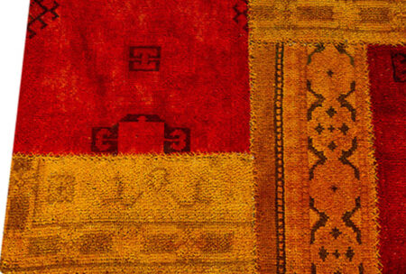 Vintage Renaissance Red/Orange Area Rug Carpet