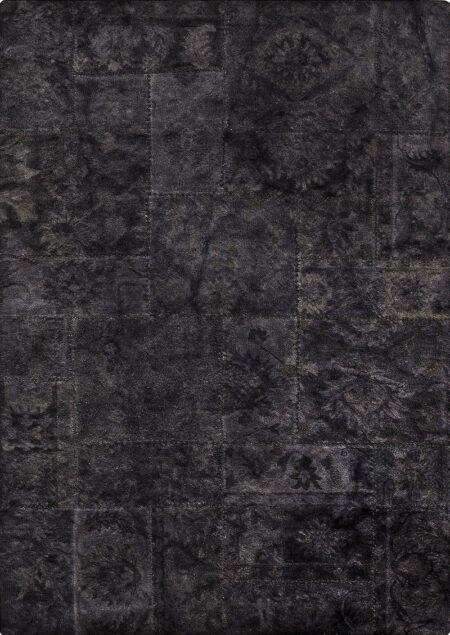 Vintage Sarangi Black Area Rug Carpet