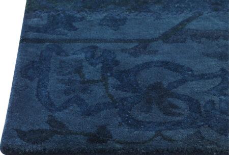 Vintage Sarangi Blue Area Rug Carpet