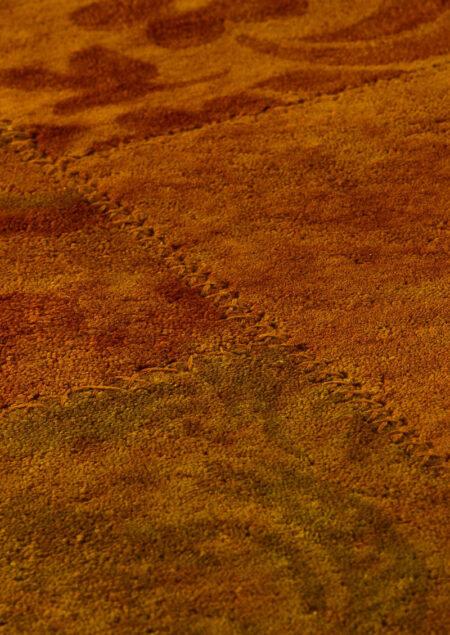 Vintage Sarangi Orange Area Rug Carpet