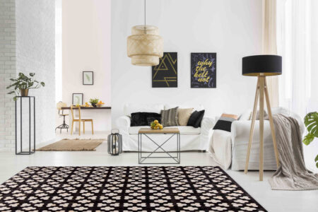 Gau Star Black/White Area Rug Carpet